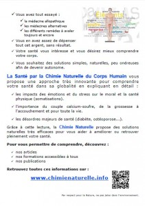 Chimie Naturelle - flyer verso